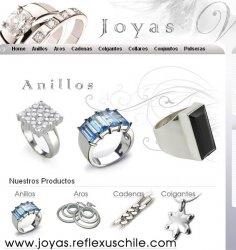 Joyas de plata fina, catálogo en Internet - Santiago