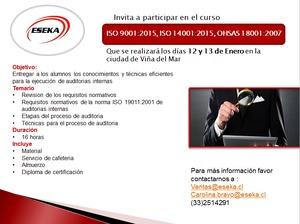 curso auditor interno iso 9001 gratis